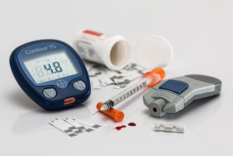 Blood glucose meter to measure the effect of intermittent fasting and working out on blood sugar levels.
