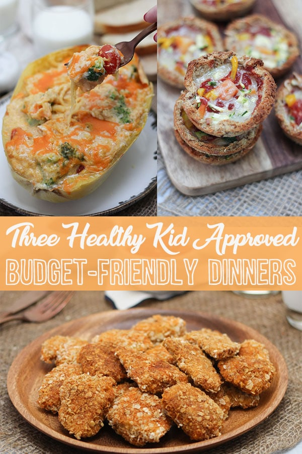 Try Out these Easy Kid-Approved, Budget-Friendly Healthy Dinner Recipes for any night of the week! #budgetfriendly #healthydinner #macandcheese #chickennuggets #healthyrecipe #easyrecipe #affordable #weeknight #familydinner #kidapproved