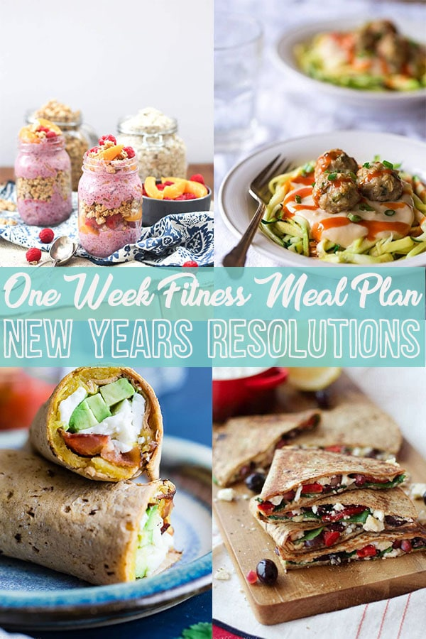 I share a one week healthy fitness meal plan for women who work out to meet their new years resolutions.
