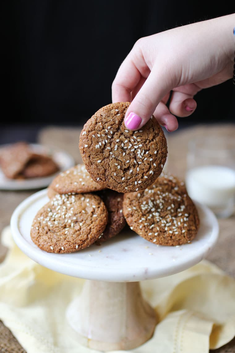 These Vegan Salted Tahini Gluten Free Cookies are a deliciously healthy, paleo, plant-based snack that you and your family will totally love!