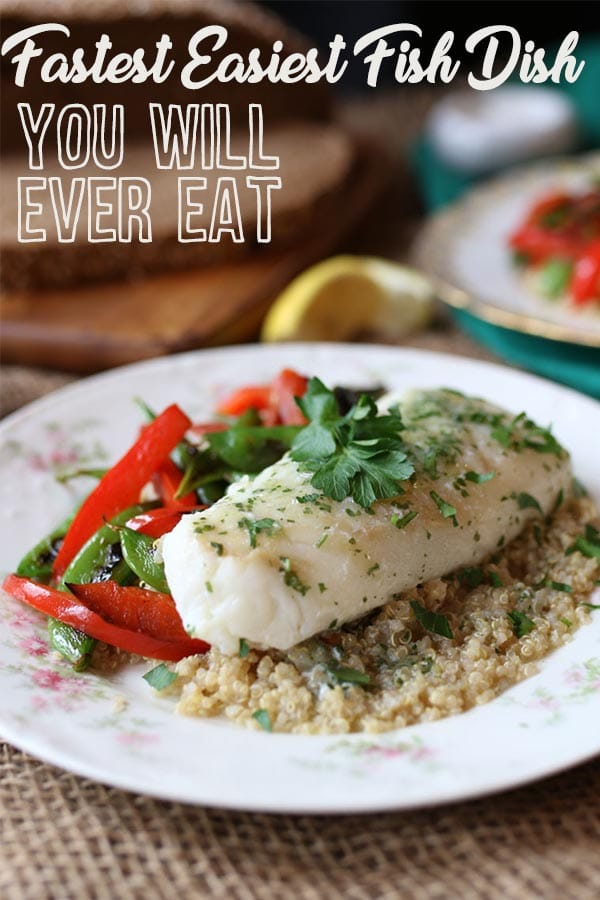 How to Make the Fastest Easiest Fish Dish you'll ever make #fish #cod #healthyrecipe #easyrecipe #fishdish #healthydinner #quickandeasy #delicious #tastydinner #quickdinner #codfish