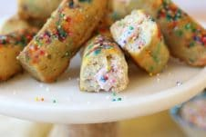 These Gluten Free Rainbow Twinkies with Strawberry Protein Cream Filling are the better-for-you version of everyones beloved childhood treat!