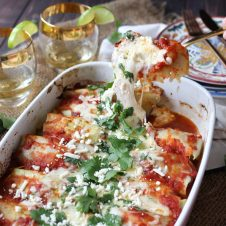TheseGluten Free Keto Cabbage Roll Enchiladas are a perfect One Pan Low Carb Dinner that everyone in the family is going to love!