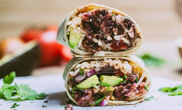 Black bean burrito.