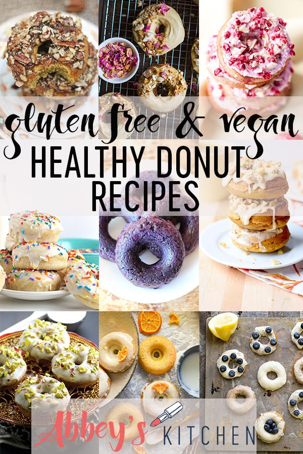 Best Healthy Gluten Free Vegan Donut Recipes #donuts #veganfood #glutenfreefood #nationaldonutday #healthydonuts #healthyfood #healthyrecipes #easyrecipe #healthydessert #desserts #eatingwell #eatinghealthy #goodeats #eatgood