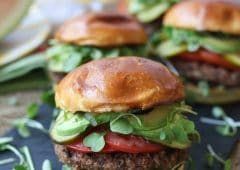 This Gluten Free Vegan Walnut Quinoa Burgers is the perfect Plant Based BBQ Veggie Burgers for summer entertaining, long weekends, Memorial Day and Father's Day!
