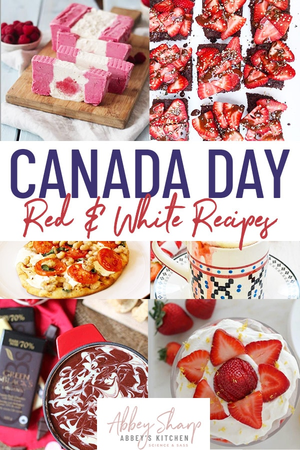 Collage of canada day recipes