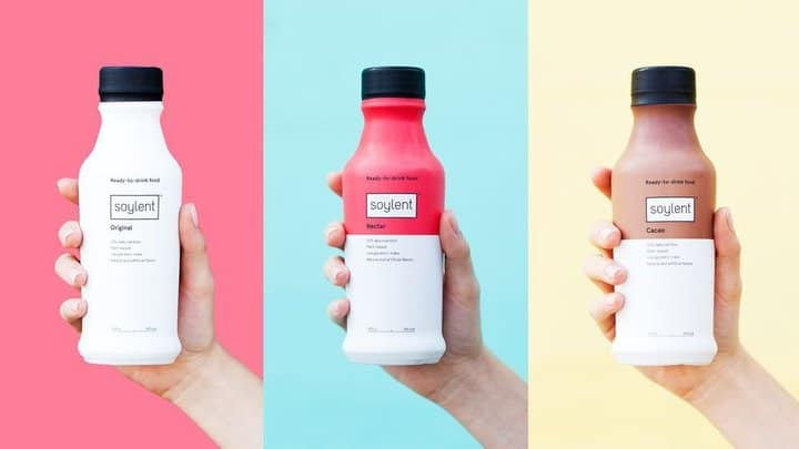 colourful image of various meal replacement drinks