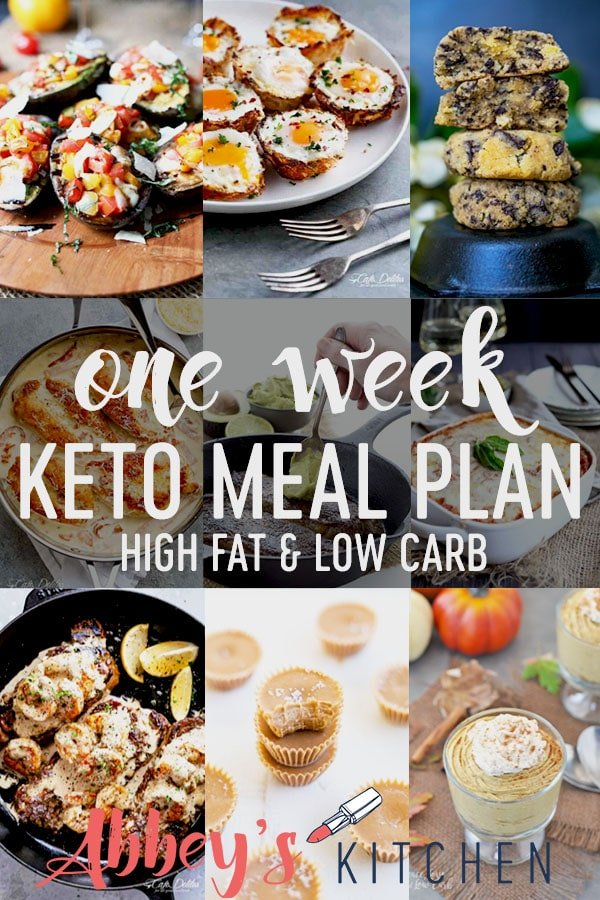 healthy collection of high fat low carb recipes in this one week keto meal plan #keto #mealplan #ketomealplan #healthyfood #recipes #highfat #lowcarb #oneweekmealplan #healthyrecipes