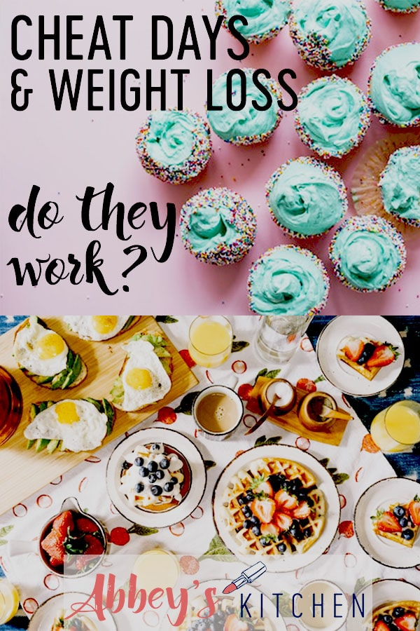 pinterest image of blue cupcakes above an image of a brunch platter with text overlay