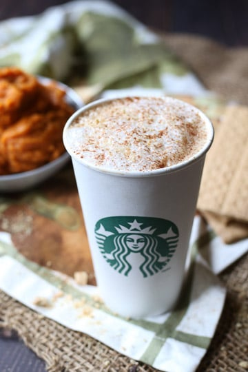 This Healthy Vegan Pumpkin Spice Latte is the BEST and ONLY essential Starbucks PSL Copy Cat Recipe you'll ever need to get your PSL fix this fall.