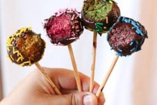 TheseVegan Rainbow Cake Pops are delicious gluten free healthy treats for kids and adults alike that can be made in a rainbow of colours and decorated with little sprinkles and candies!