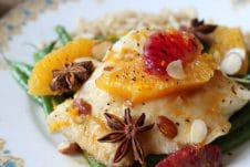 This Orange Star Anise Poached Halibut may sound fancy but it's one of the easiest fall dishes to entertain friends and family.