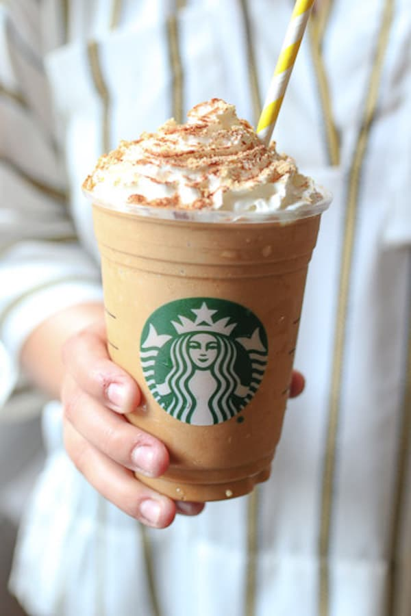 I share my healthy vegan pumpkin spice frappuccino, a must-try Starbucks copy cat recipe to get you ready for fall without all the excess sugar!