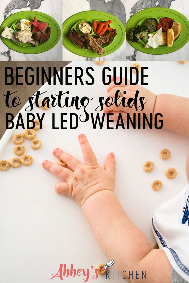 Thinking of trying baby led weaning with your baby? We share the dos and don'ts in this BLW beginners guide for starting solids without spoon-feeding. #abbeyskitchen #babyledweaning #beginnersguide #introducingsolids