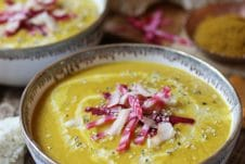 With winter around the corner, this vegan yellow beet coconut curry soup is the perfect gluten free recipe to stay warm and cozy. Whether your entertaining for the holidays or needing an easy weeknight dinner recipe, this vegan curry soup will do the trick.