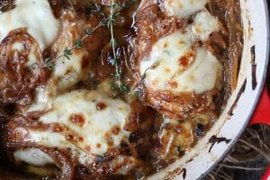 These French Onion Chicken Breasts are the perfect simple on pot dinner that is also Keto friendly, Gluten Free and packed with protein.
