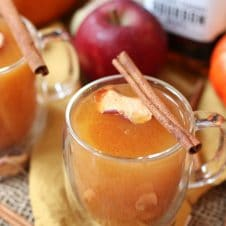 This Vegan Pumpkin Spice Cider Punch is the perfect holiday healthy cocktail for entertaining this fall or winter!
