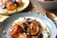 Vegan maple roasted persimmons make the ultimate gluten free holiday dessert that is equally nutritious and delicious.