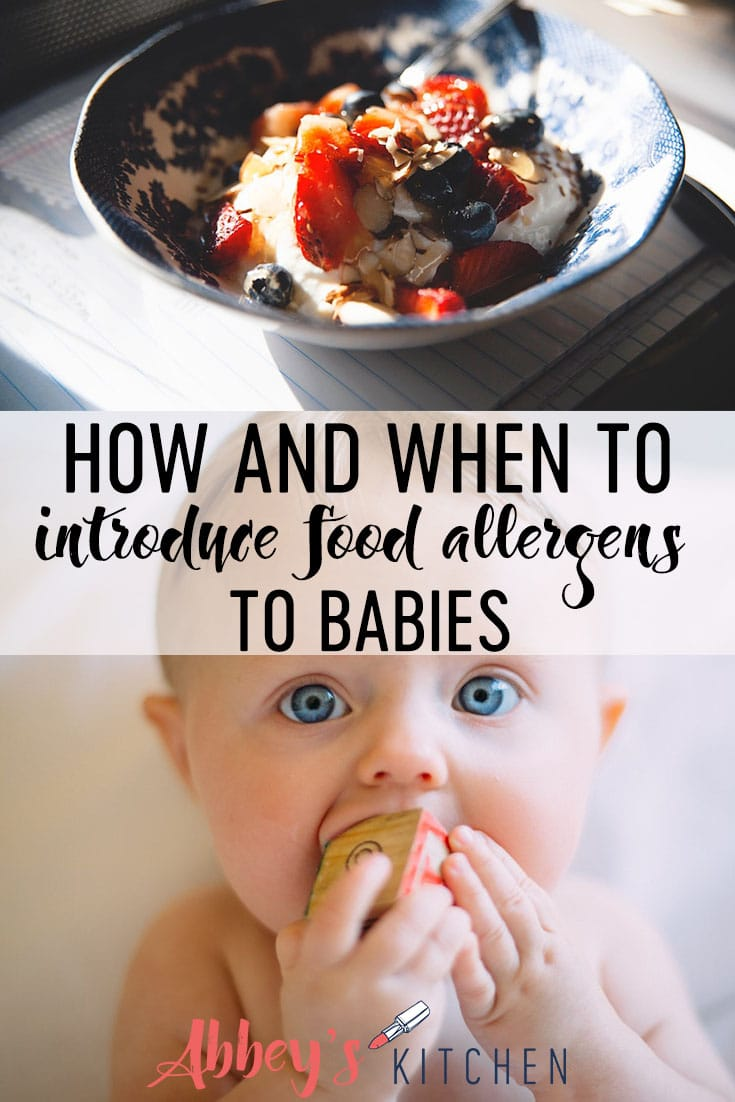 pinterest image of gluten free food in a bowl above an image of a baby with blue eyes with text overlay