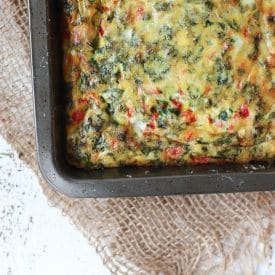 TheseKale Pepper Baby Frittata Fingers are the perfect breakfast for Baby Led Weaning (BLW) because it's a delicious high iron meal.