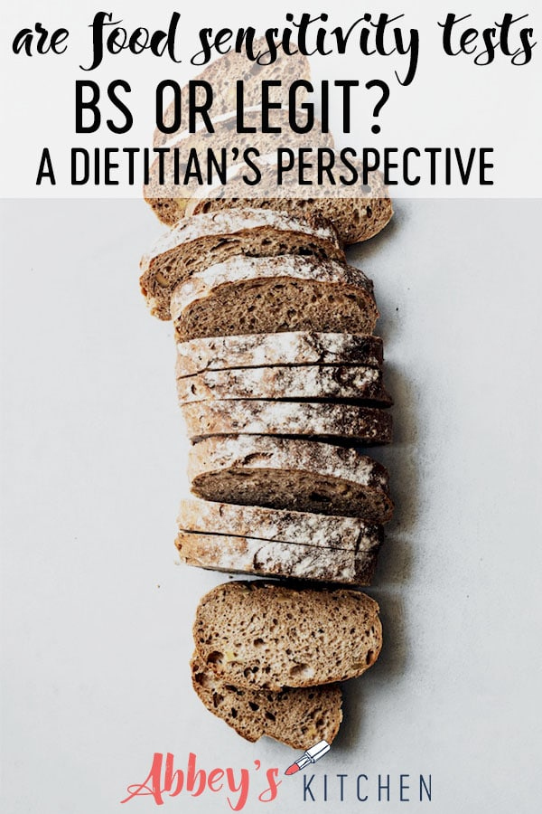 """With food intolerances on the rise, we answer the question, are""""food sensitivity tests BS or legit?"""" We review the evidence and share a Dietitian's perspective on these expensive tests. #abbeyskitchen #foodsensitivity #foodallergytests #foodsensitivitytests"""
