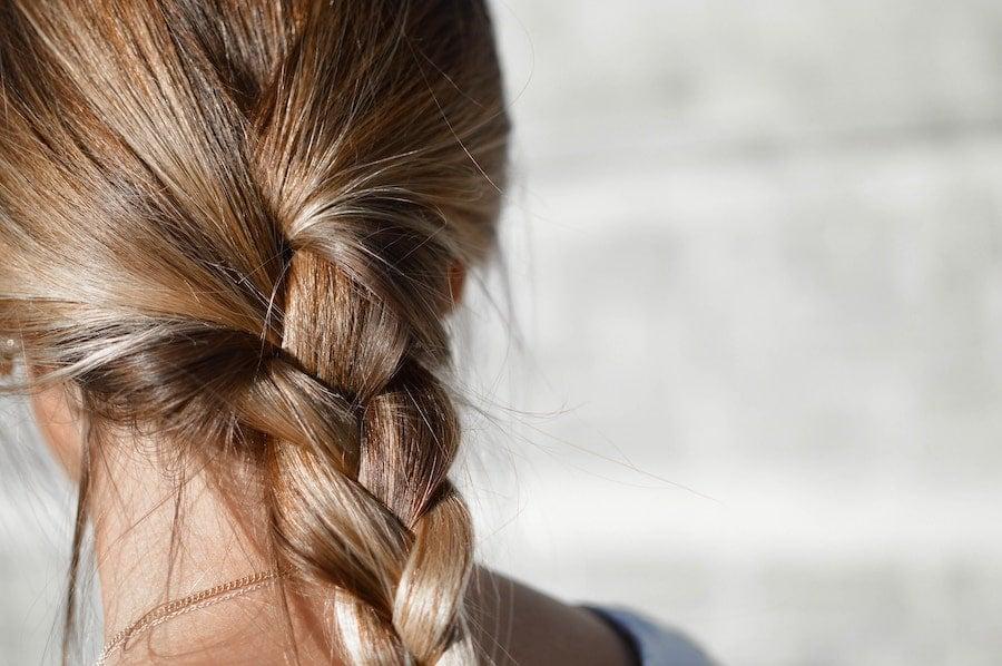 blonde hair in a braid