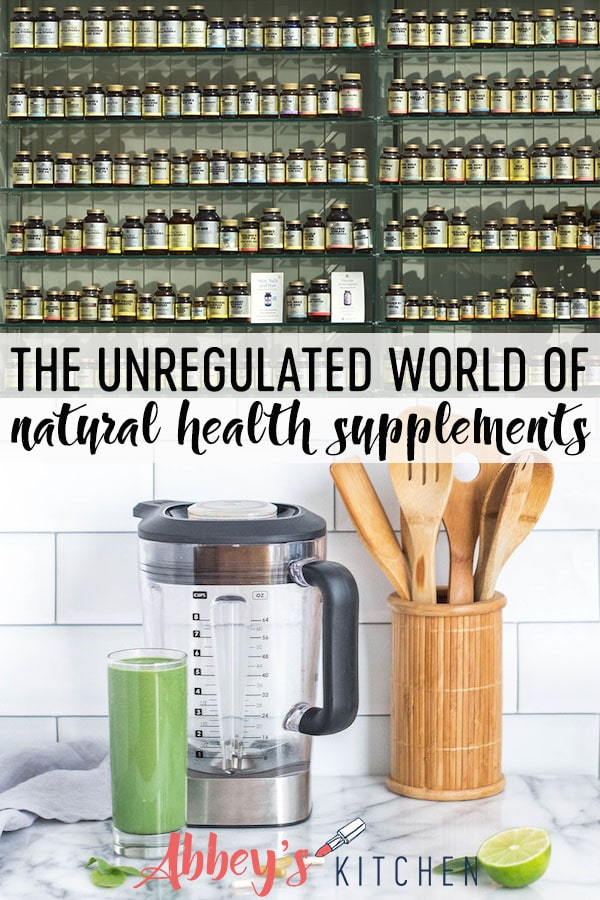 We discuss the unregulated world of natural health supplements and discuss their safety and if they are what they claim to be. #abbeyskitchen #healthproducts #supplements #unregulated