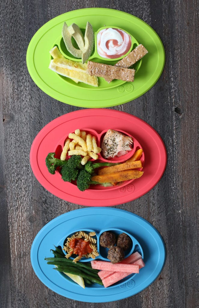 Baby led weaning breakfast, lunch and dinner.