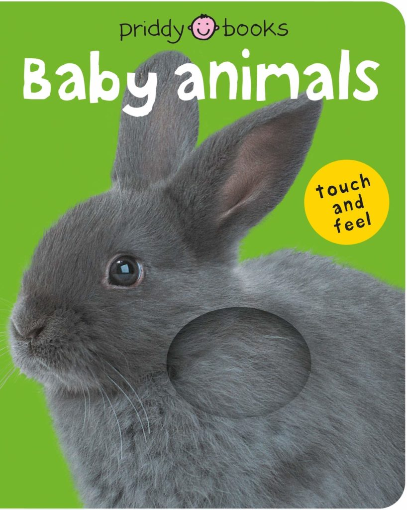 Touch and feel baby animals book for babies.