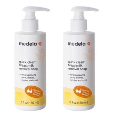 Breastmilk removal soap