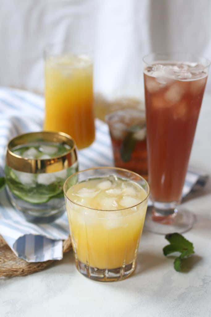 Top five healthy hydrating low sugar drinks.
