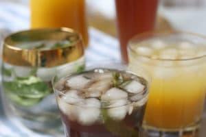 Top five healthy hydrating low sugar drinks.