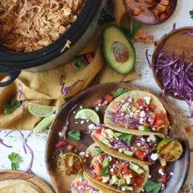 Peach Bbq Chicken Tacos Slow Cooker Recipe Abbey S Kitchen