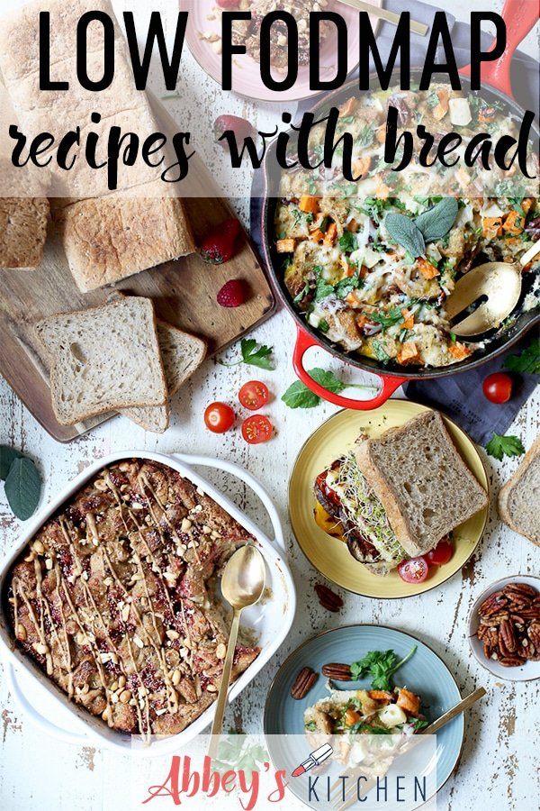 pinterest image of Low fodmap recipes with text overlay