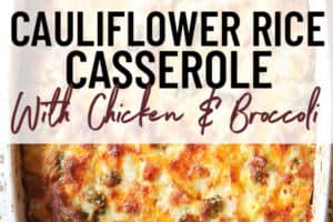 pinterest image of cauliflower casserole