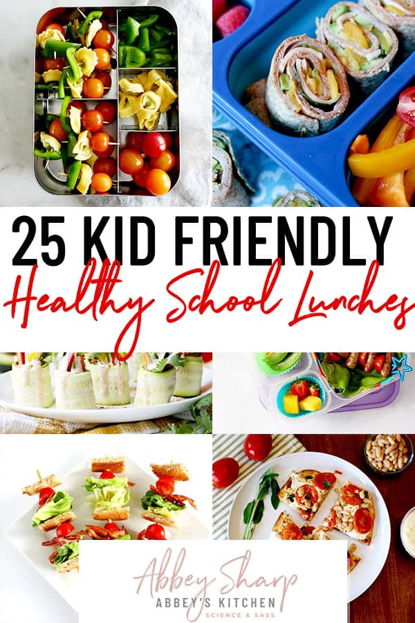 pinterest image for back to school lunch ideas