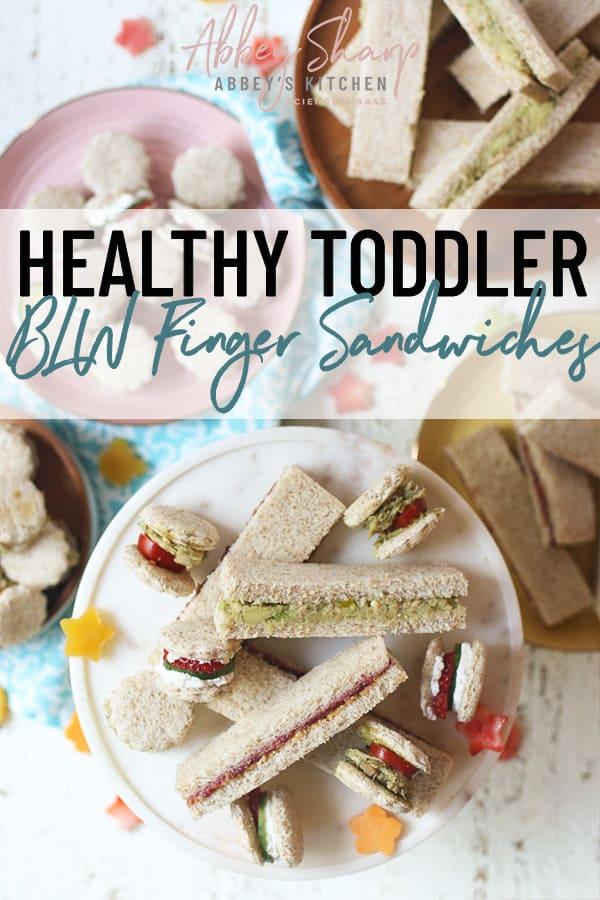 pinterest image of toddler finger sandwiches
