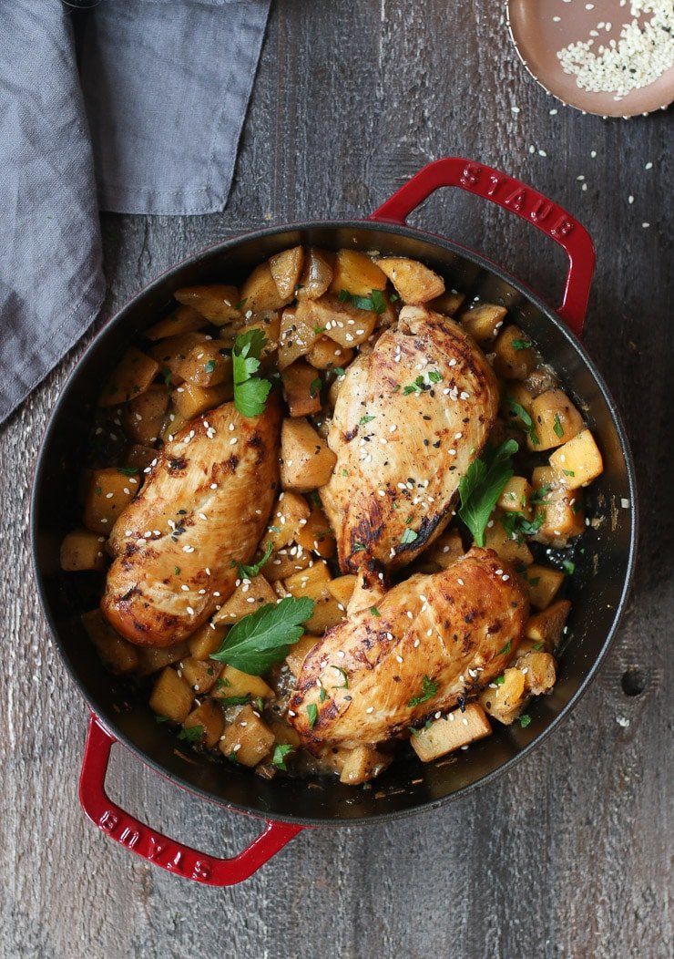 Chicken breast in one pot.