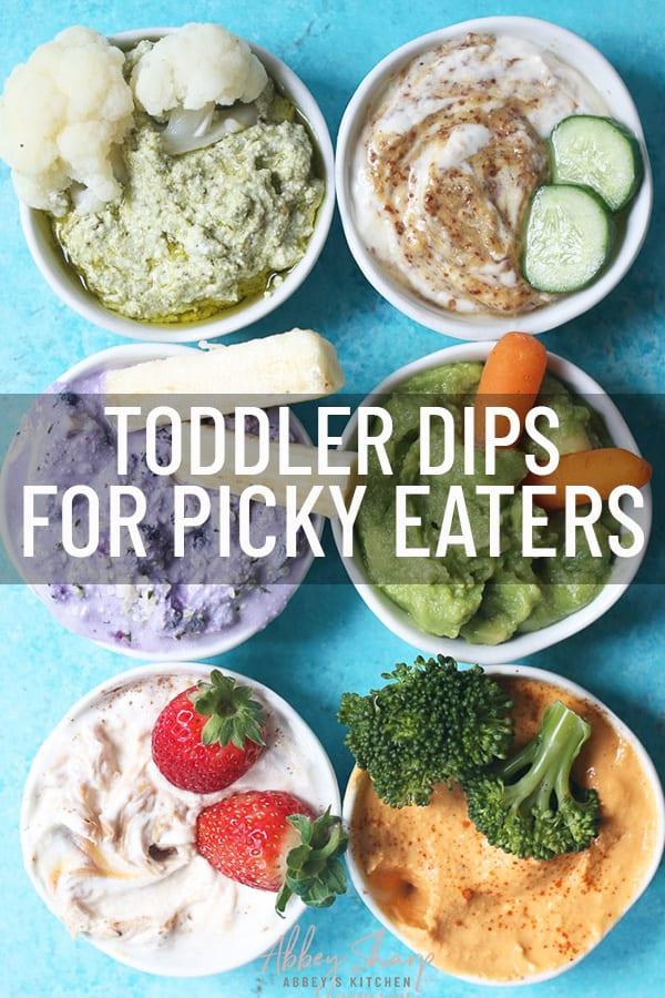 pinterest image of toddler dips