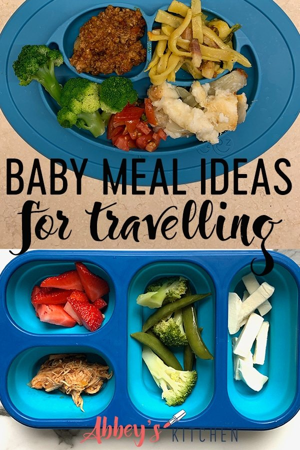 Pinterest image of toddler meals on a plate and lunchbox with text overlay