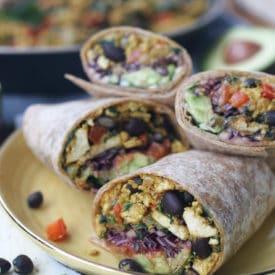 vegetarian burritos on a plate.