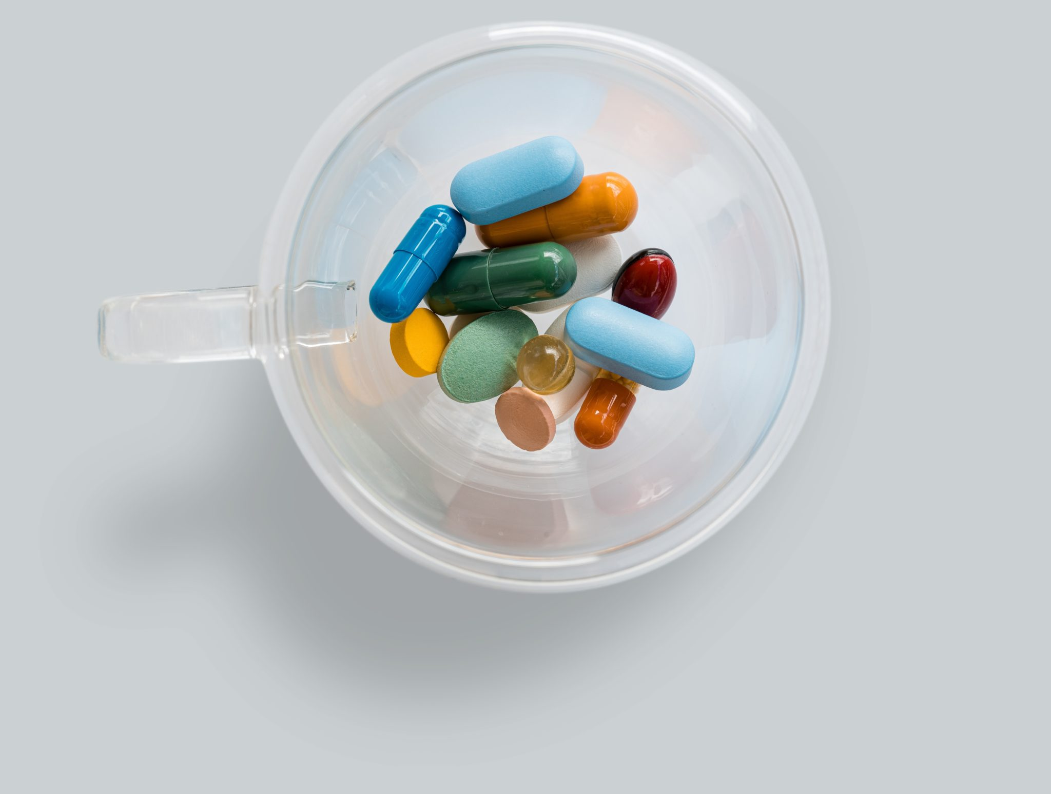 A variety of capsules and supplements for PCOS.