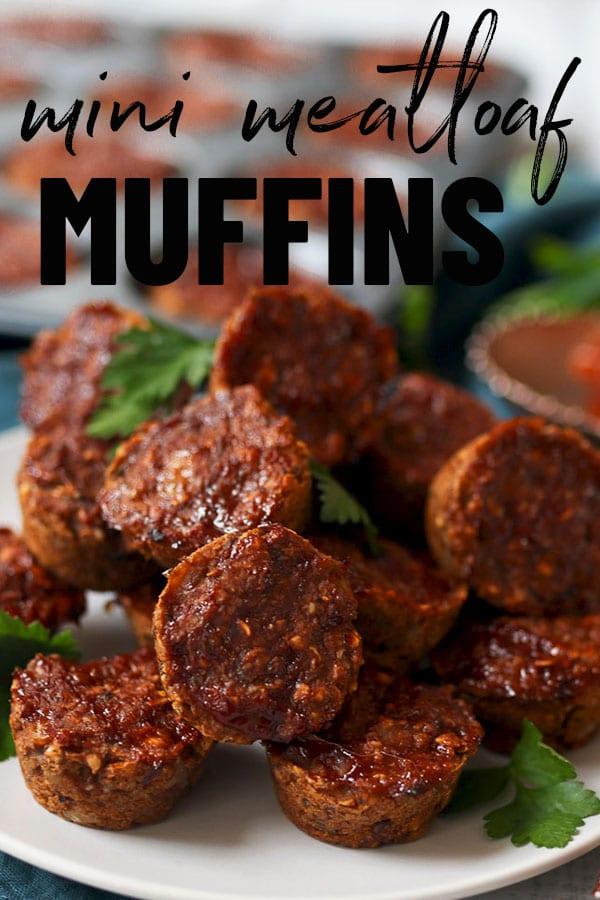 Plate of lentil vegan meatloaf muffins.