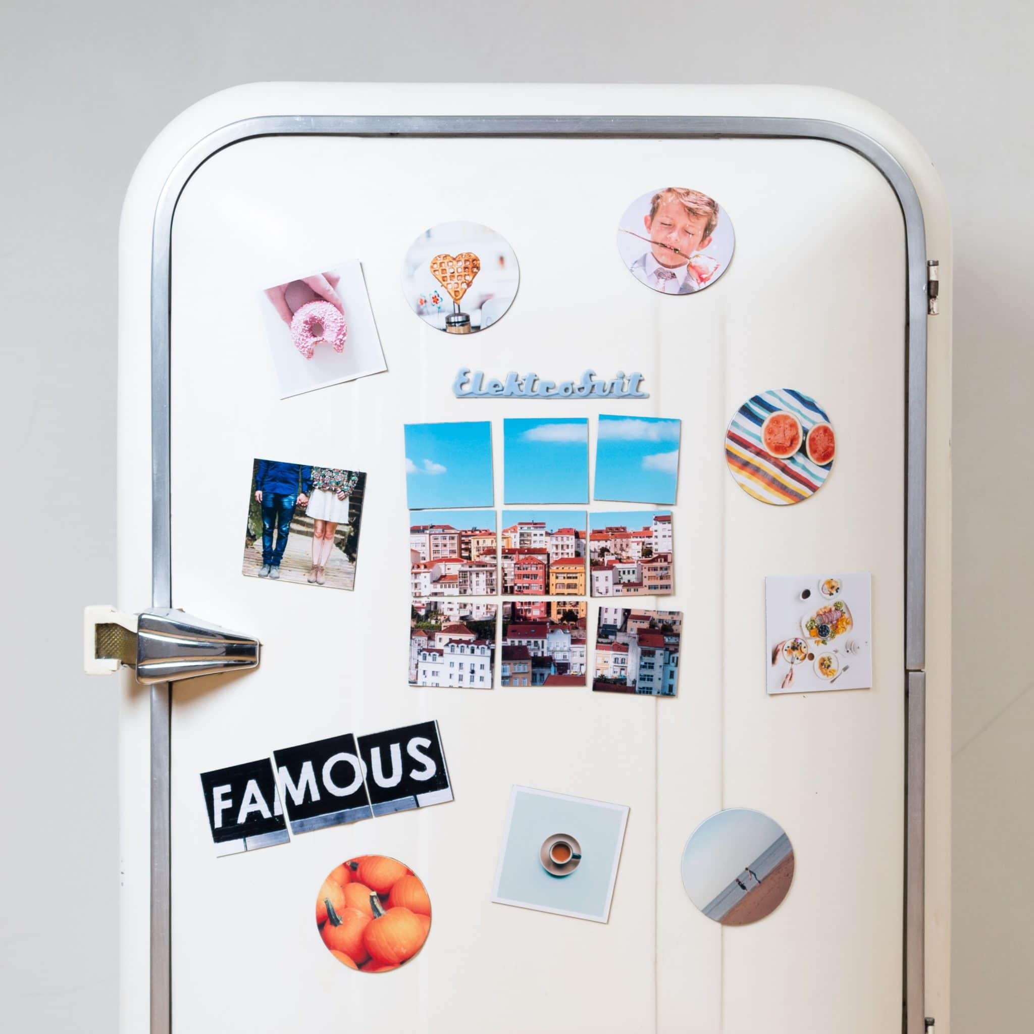 a refrigerator representing a trigger for emotional eating during isolation