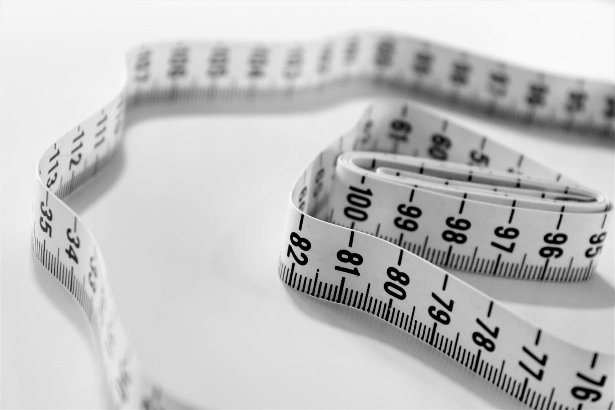 close up of a measuring tape to measure weight