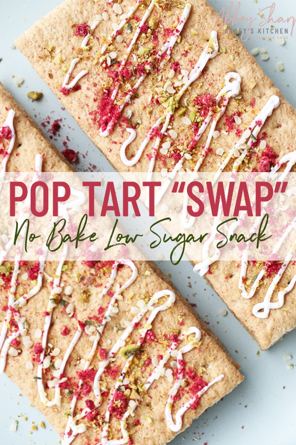 pinterest image of pop tarts with text overlay