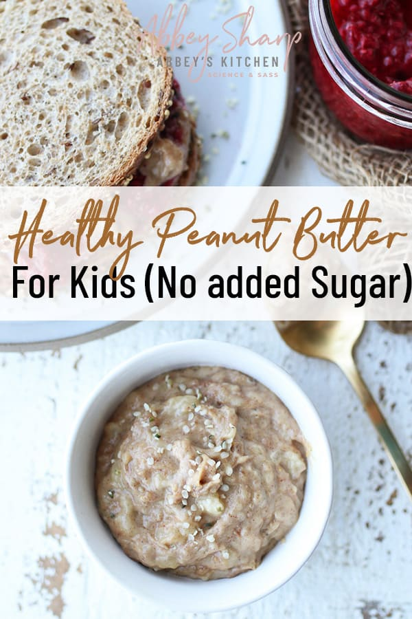 pinterest image of healthy peanut butter
