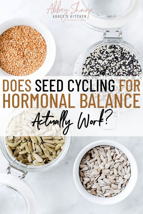 pinterest image of seeds for seed cycling