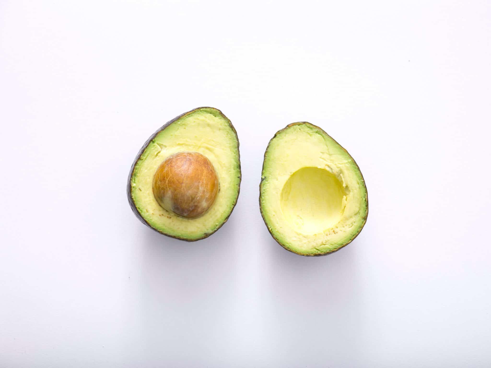 avocado split in half for the keto diet